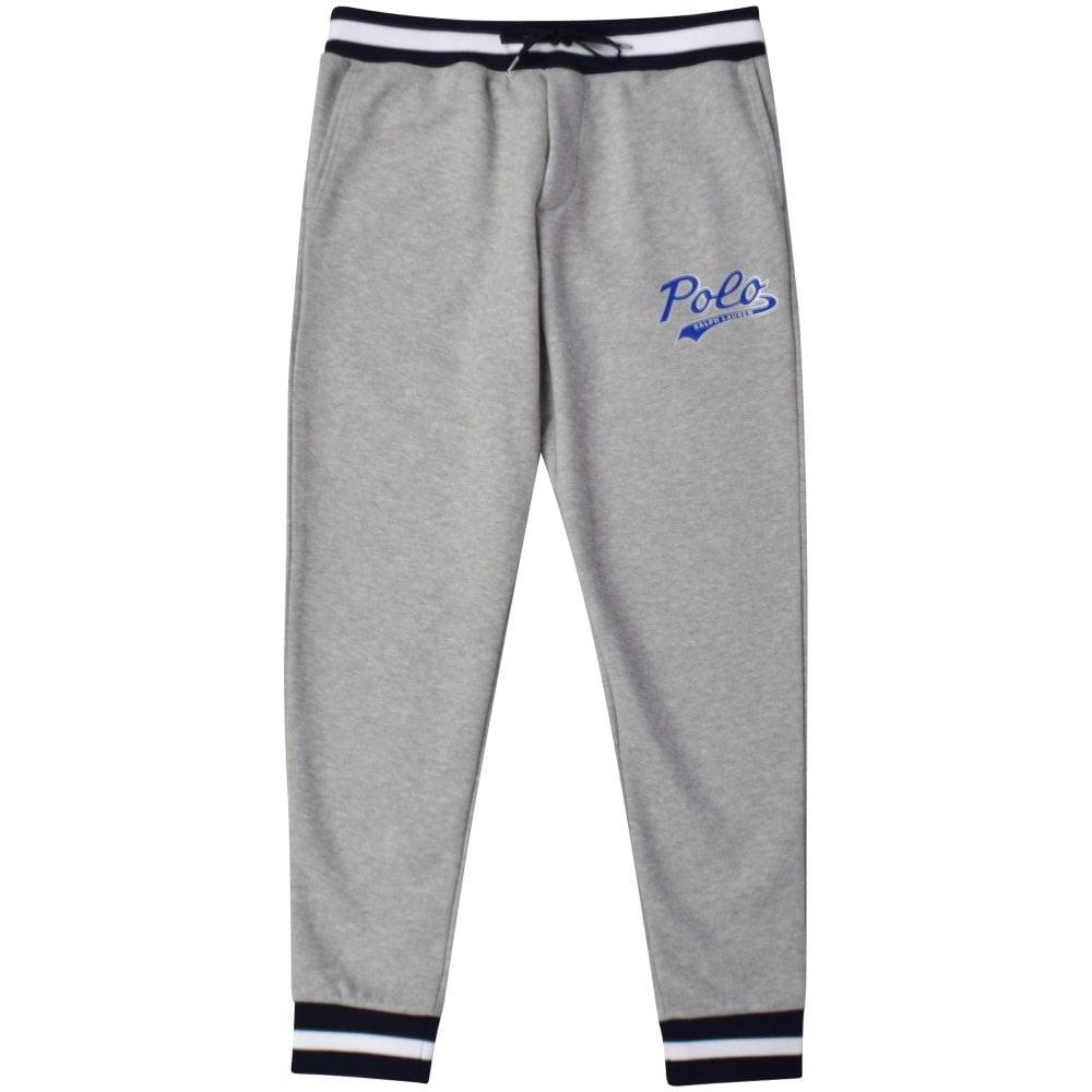 5c1d8d9a0d554 POLO RALPH LAUREN Grey Double Knit Logo Jogging Bottoms - Department ...
