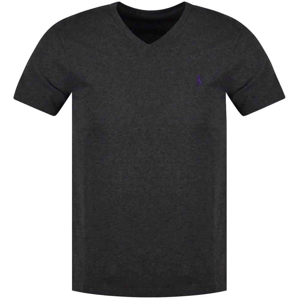 a9104d91e9 POLO RALPH LAUREN Polo Ralph Lauren Grey Heather Logo V-Neck T-Shirt
