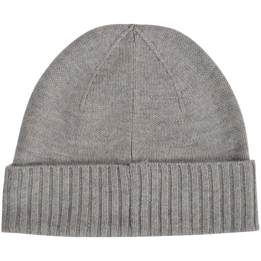 04757cc59bdb24 POLO RALPH LAUREN Grey Logo Beanie Hat