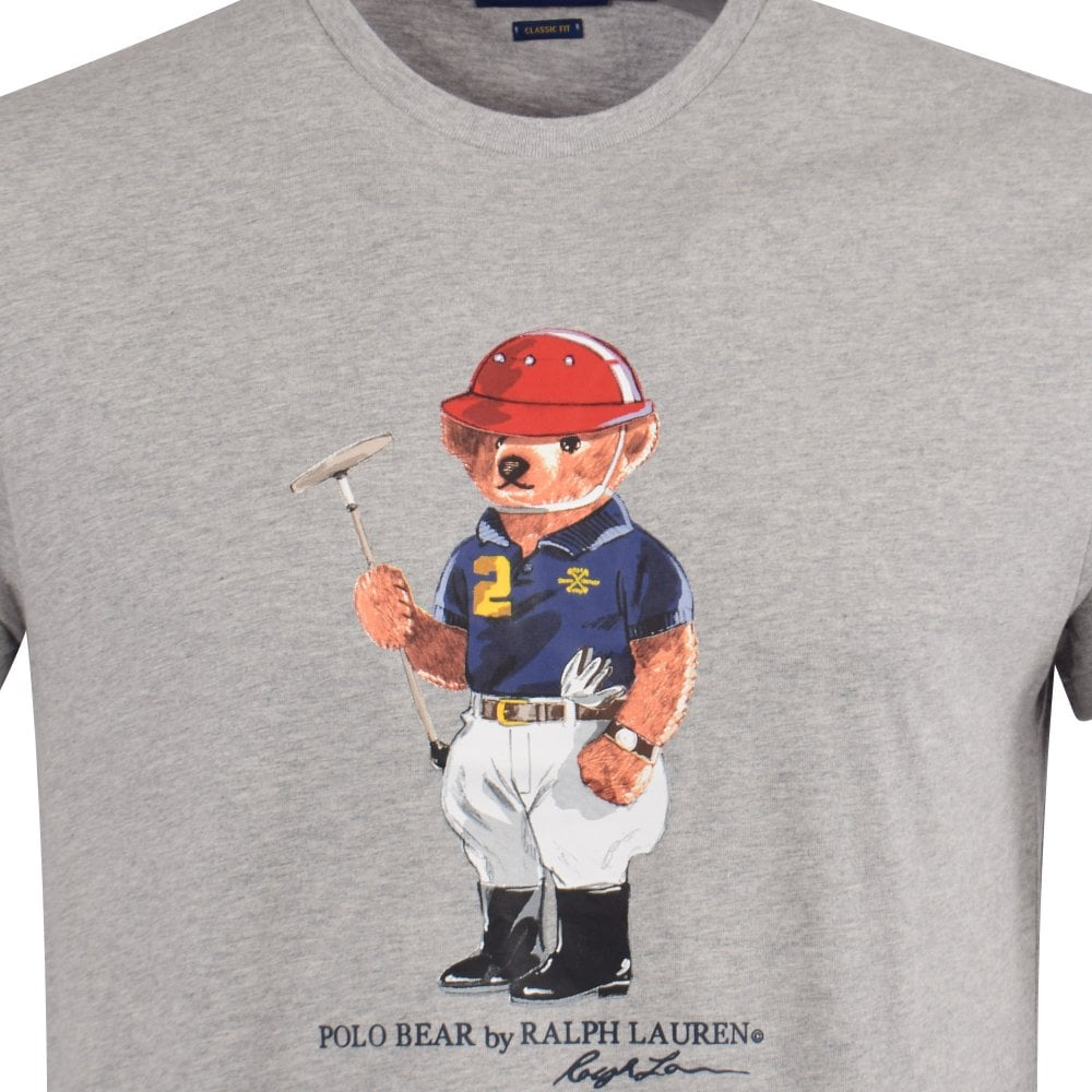 c4f39650af9e6 POLO RALPH LAUREN Grey Polo Bear Print T-Shirt - T-Shirts from ...