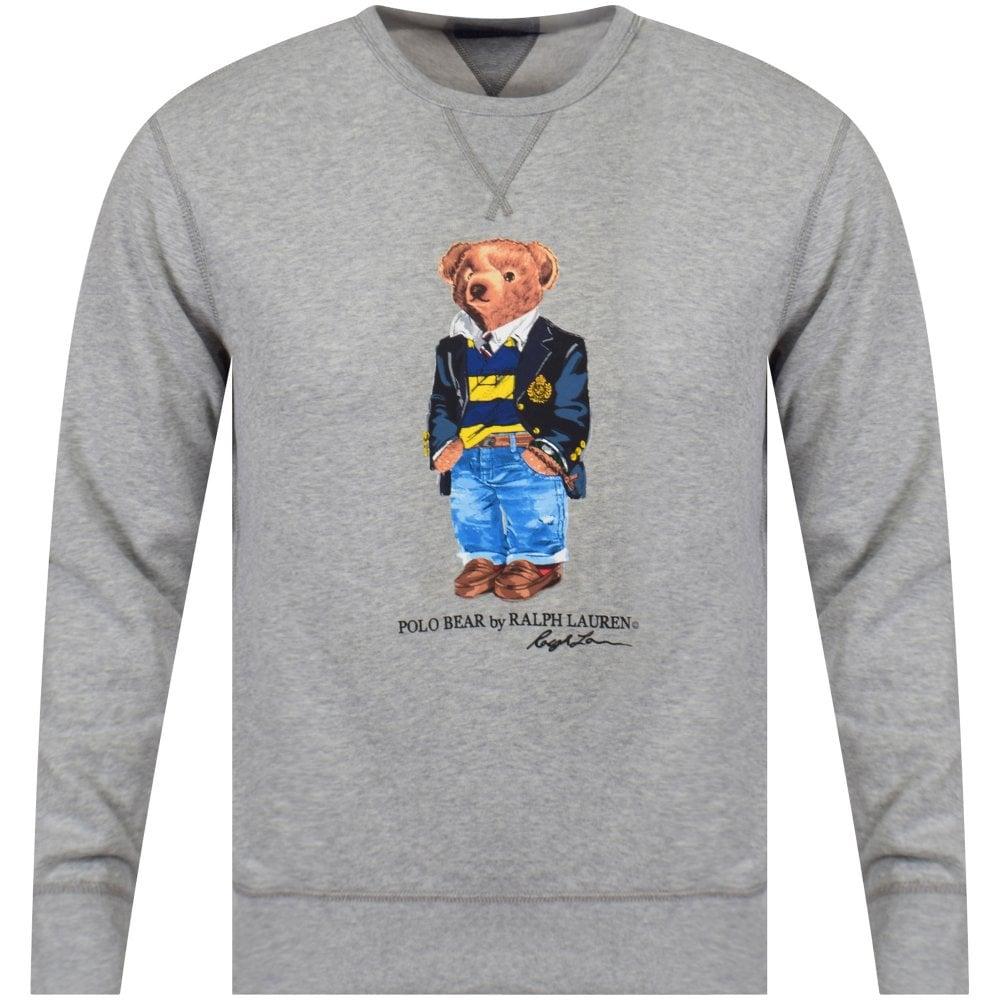 38fcf271 POLO RALPH LAUREN Grey Polo Bear Sweatshirt - Department from ...