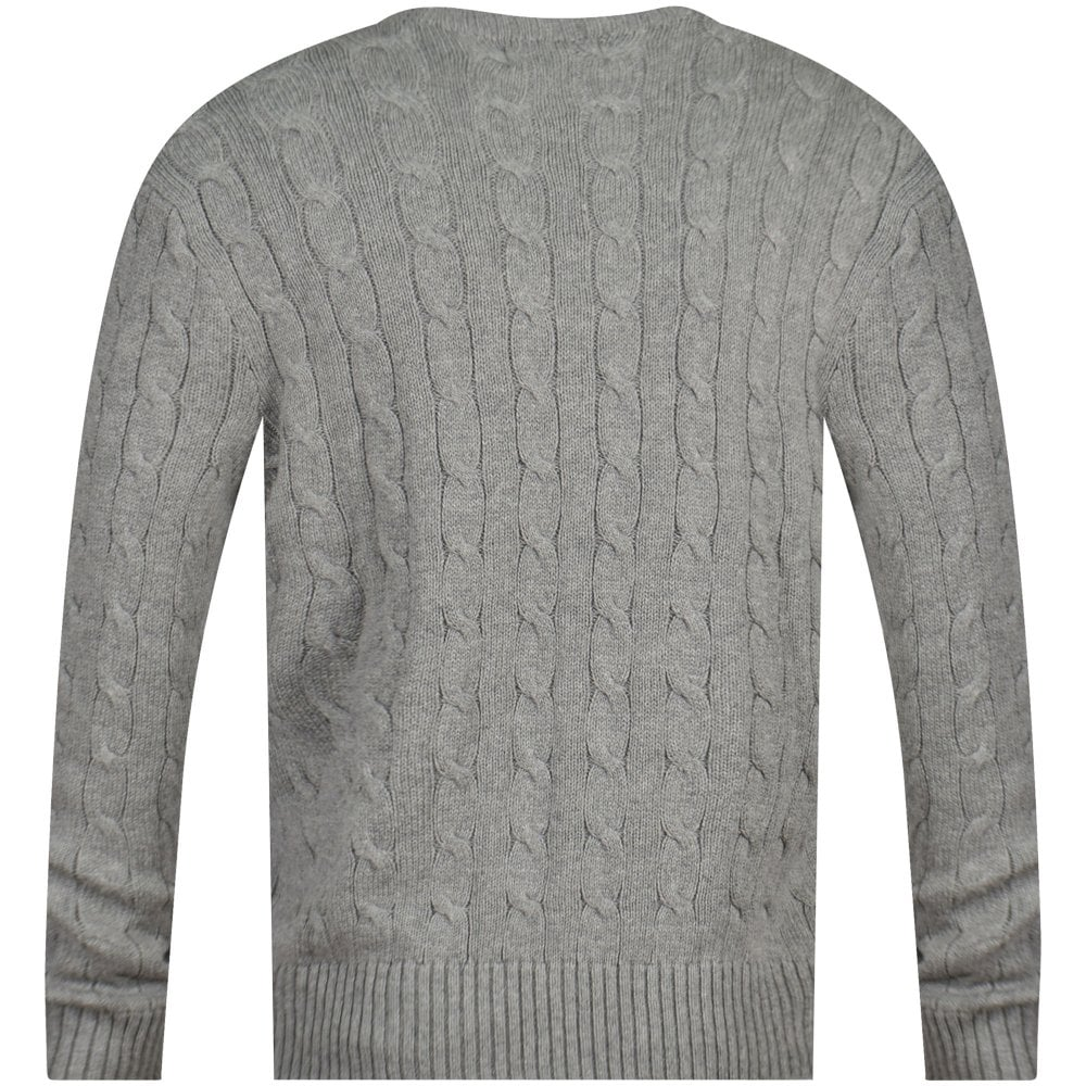 356440ffd POLO RALPH LAUREN Grey Ribbed Knit Jumper - Department from ...