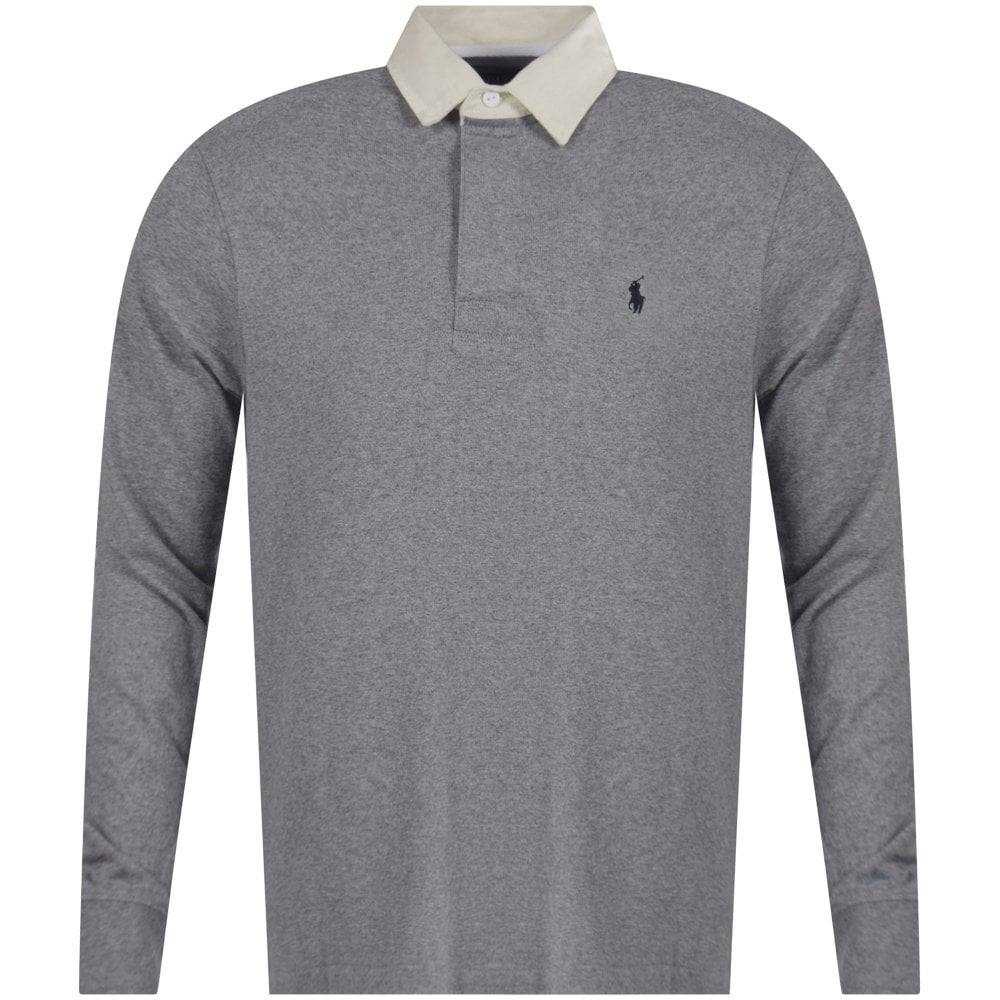 631632514 POLO RALPH LAUREN Polo Ralph Lauren Heather Grey Iconic Rugby Polo ...