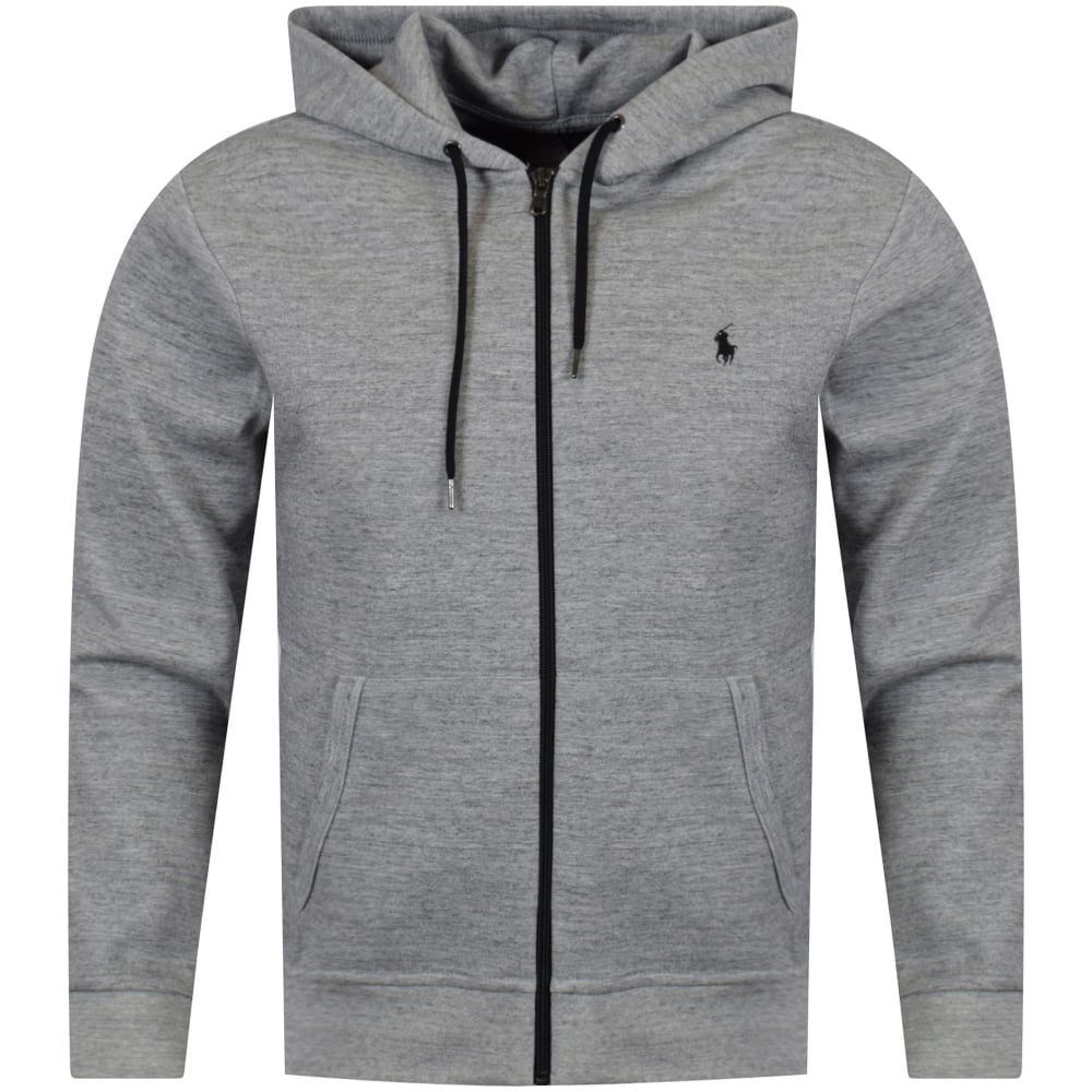 43136a697 POLO RALPH LAUREN Polo Ralph Lauren Heather Grey Logo Zip Hoodie ...