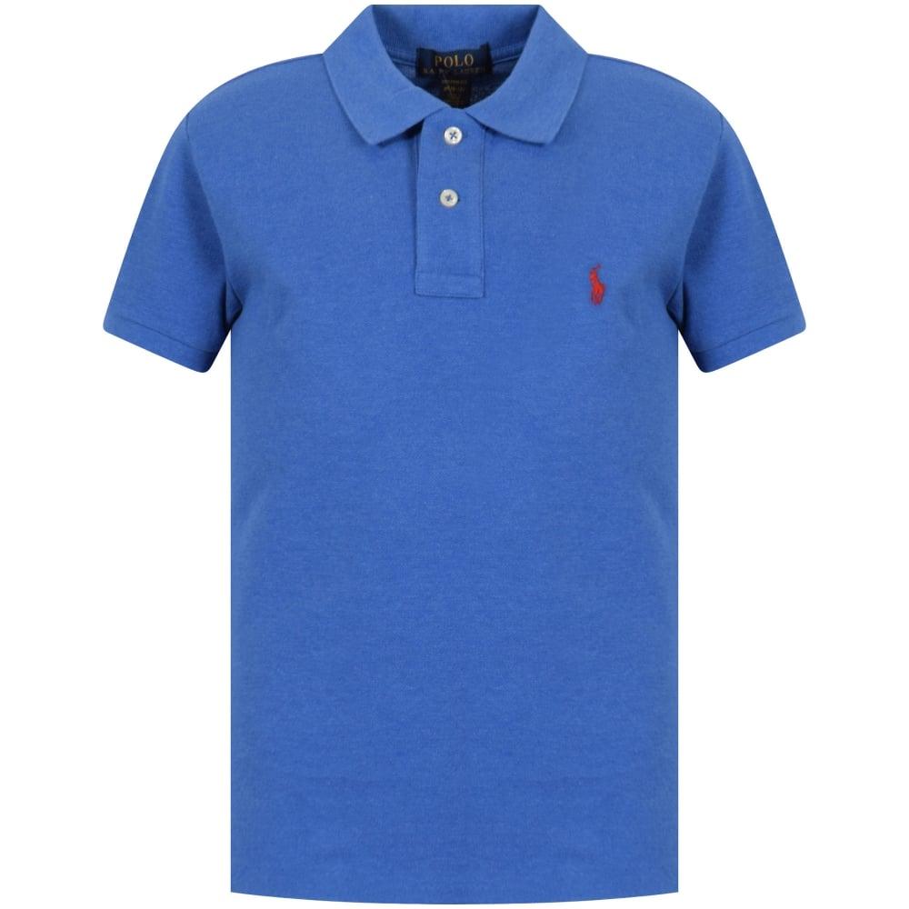 555dcfd615cf0 POLO RALPH LAUREN JUNIOR Polo Ralph Lauren Junior Blue Short Sleeve ...