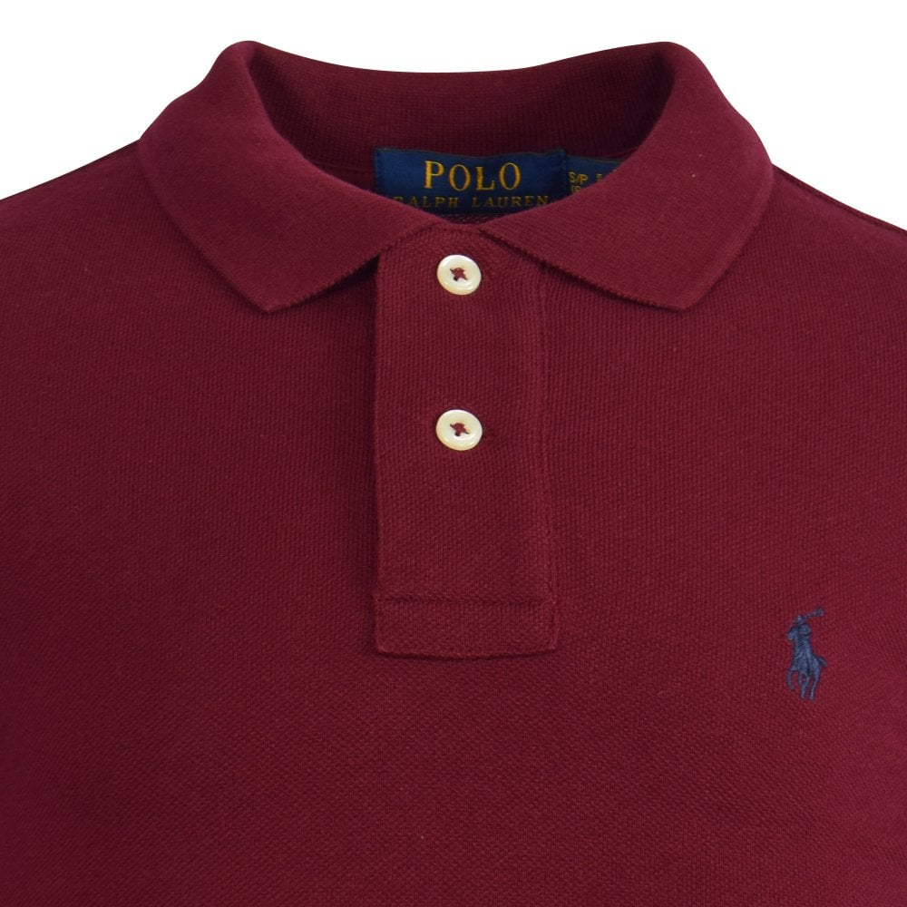 Polo Sleeved Polo Burgundy Shirt Sleeved Shirt Burgundy Sleeved Polo Burgundy Long Long Long FJ3TKl1c
