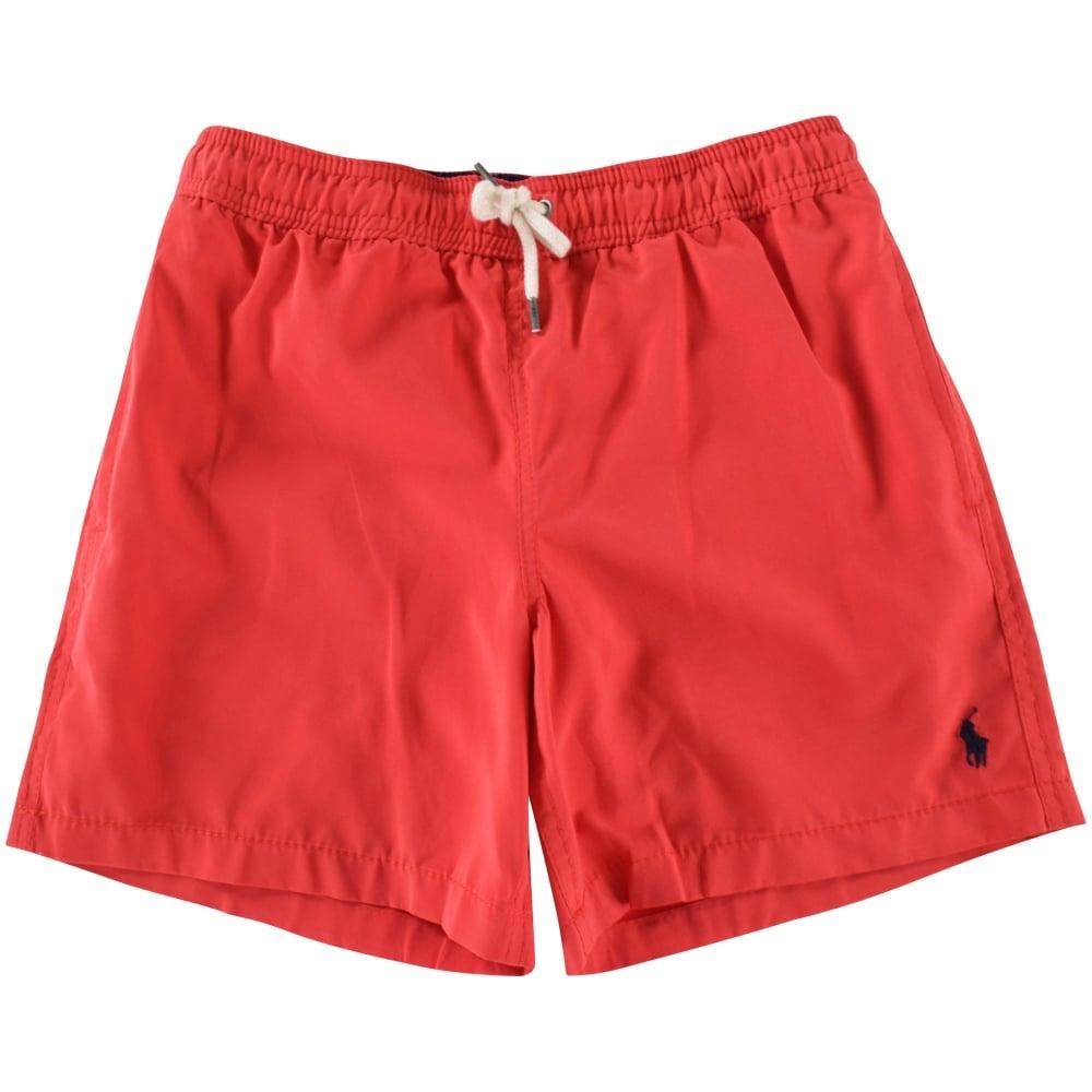 f31b893b11df3 POLO RALPH LAUREN JUNIOR Polo Ralph Lauren Junior Red Swim Shorts ...