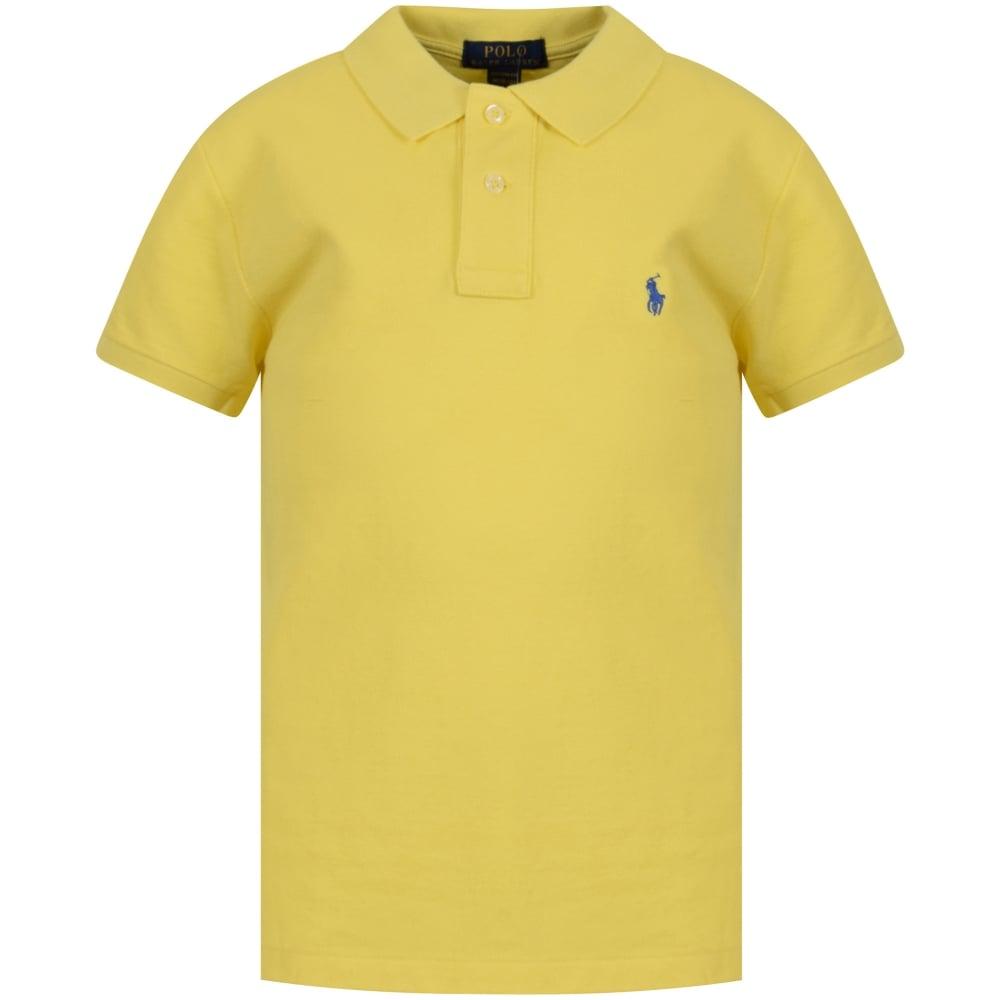 Polo Ralph Lauren Junior Yellow Short Sleeve Polo Shirt