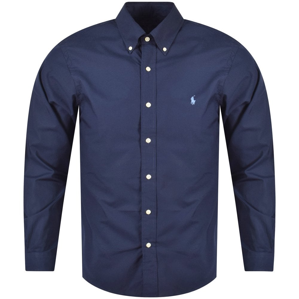 5f38d70b1c3ba POLO RALPH LAUREN Polo Ralph Lauren Navy Blue Slim Fit Long Sleeve ...