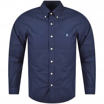 Polo Ralph Lauren Navy/Blue Slim Fit Long Sleeve Shirt