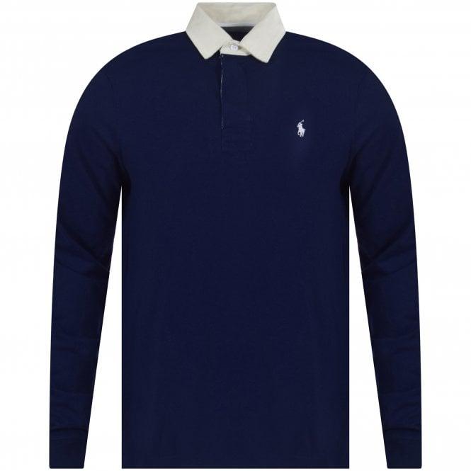 13b80735 POLO RALPH LAUREN Polo Ralph Lauren Navy Iconic Rugby Polo Shirt ...