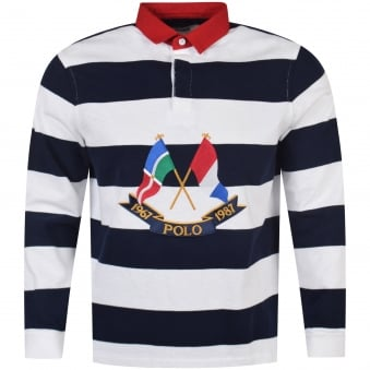 Polo Ralph Lauren Navy/White Rugby Polo Shirt