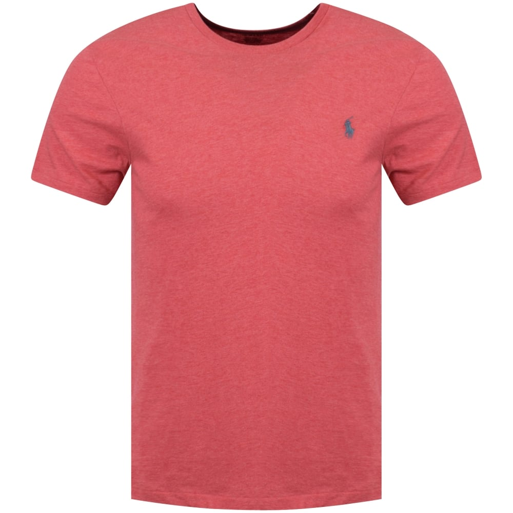 Ralph Orange Shirt Heather Crew Lauren Slim Polo Neck T Fit 54R3ALqj