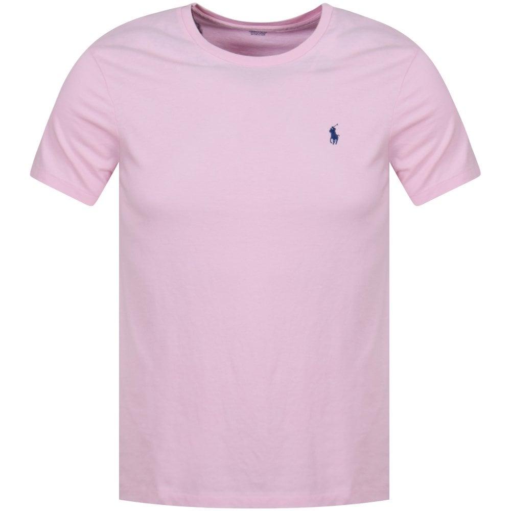 bd036043006 POLO RALPH LAUREN Polo Ralph Lauren Pink Crew Neck T-Shirt - Men ...