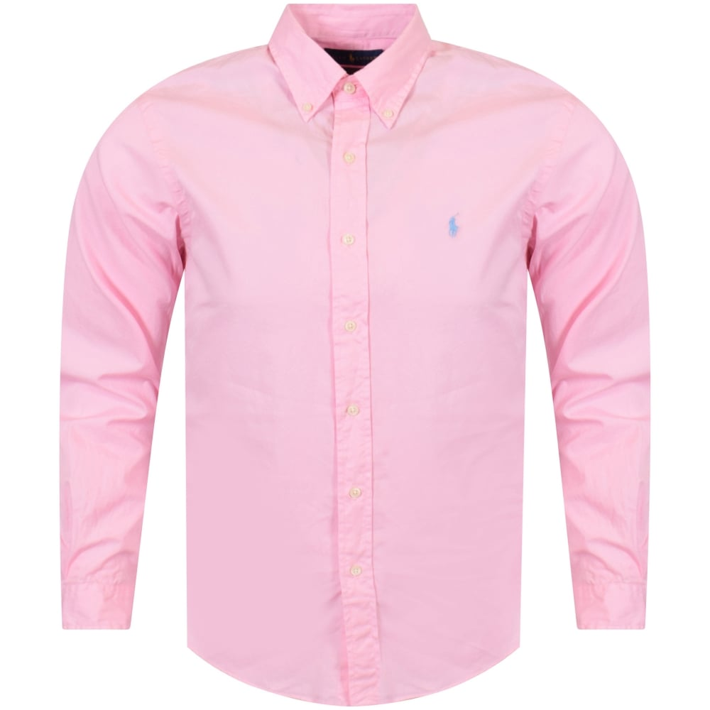c7cf6d56 POLO RALPH LAUREN Polo Ralph Lauren Pink Long Sleeved Slim Fit Shirt ...