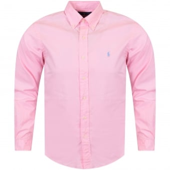 Polo Ralph Lauren Pink Long Sleeved Slim Fit Shirt