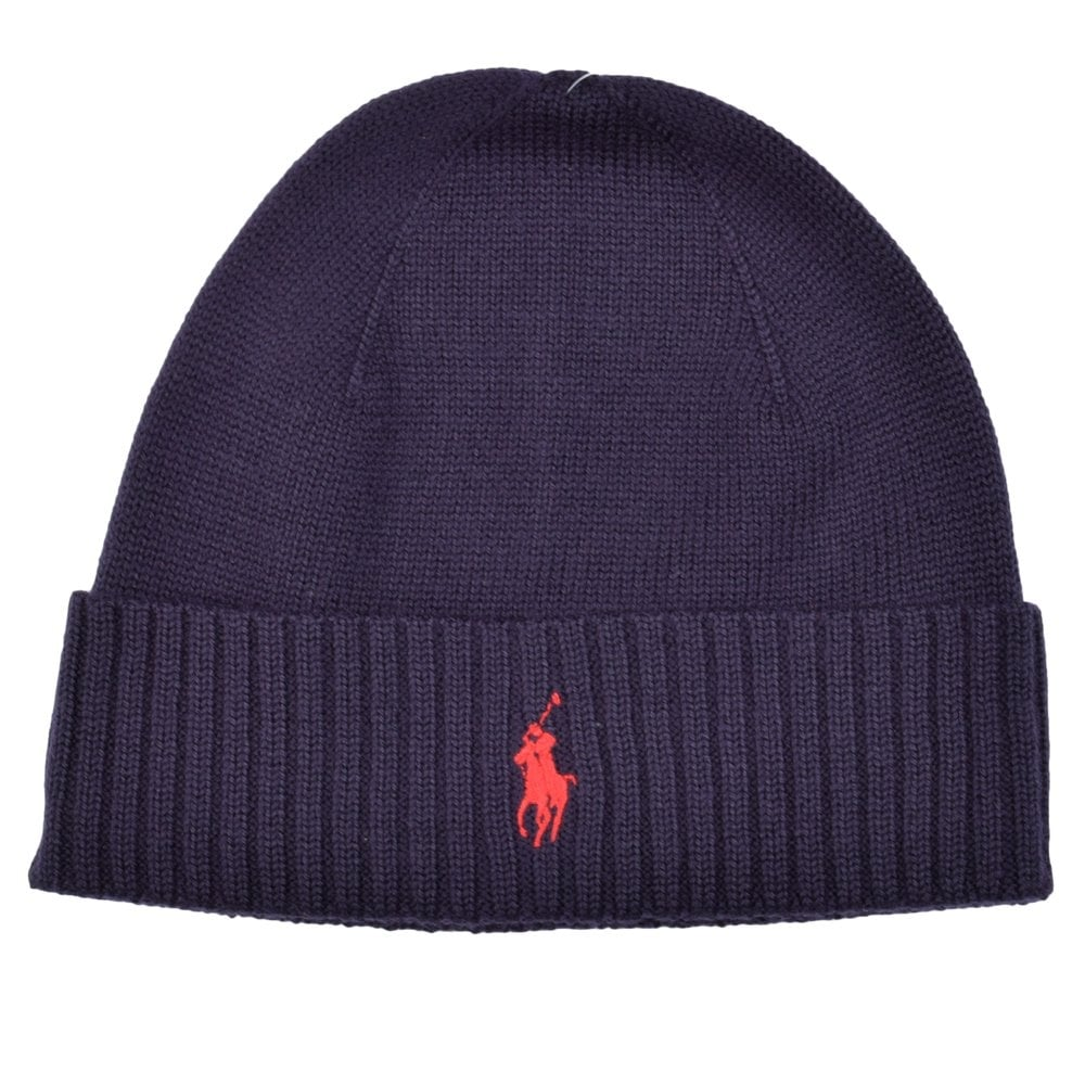 d4088a97db9d4 POLO RALPH LAUREN Polo Ralph Lauren Blue Beanie Hat - Men from ...
