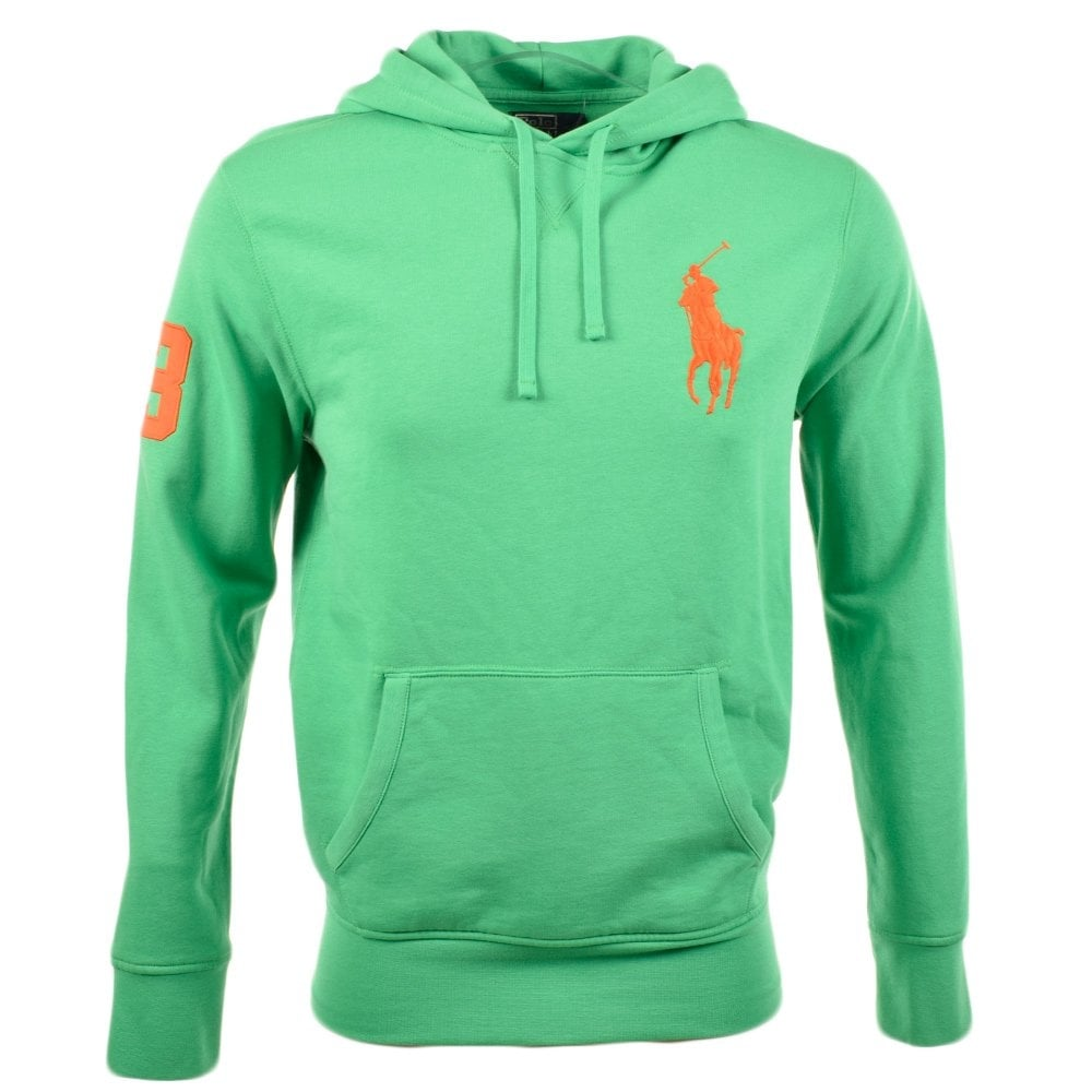 POLO RALPH LAUREN Mayan Green Playa Fleece Hoodie. Hover over image to zoom