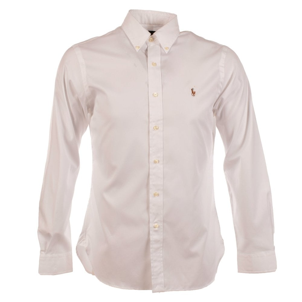 5ced3c1cc60da POLO RALPH LAUREN Polo Ralph Lauren Slim Fit White Long Sleeve Shirt ...