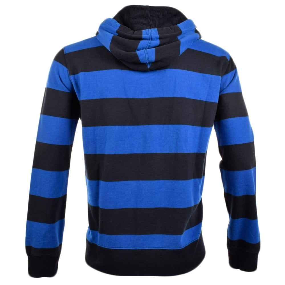 Ralph Lauren Polo Striped Terry Pullover Hoodie in Blue for Men