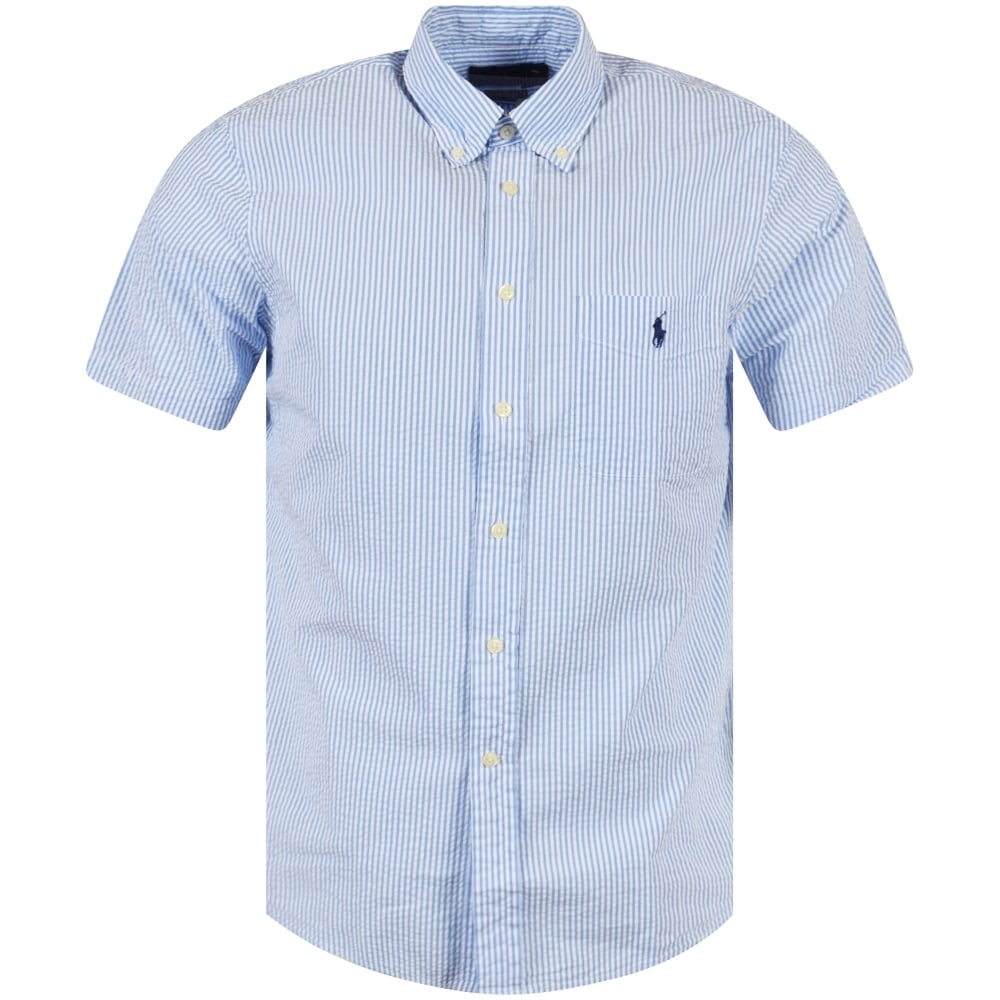 328f63a7ec077 POLO RALPH LAUREN Ralph Lauren Blue White Stripe Short Sleeve Shirt ...