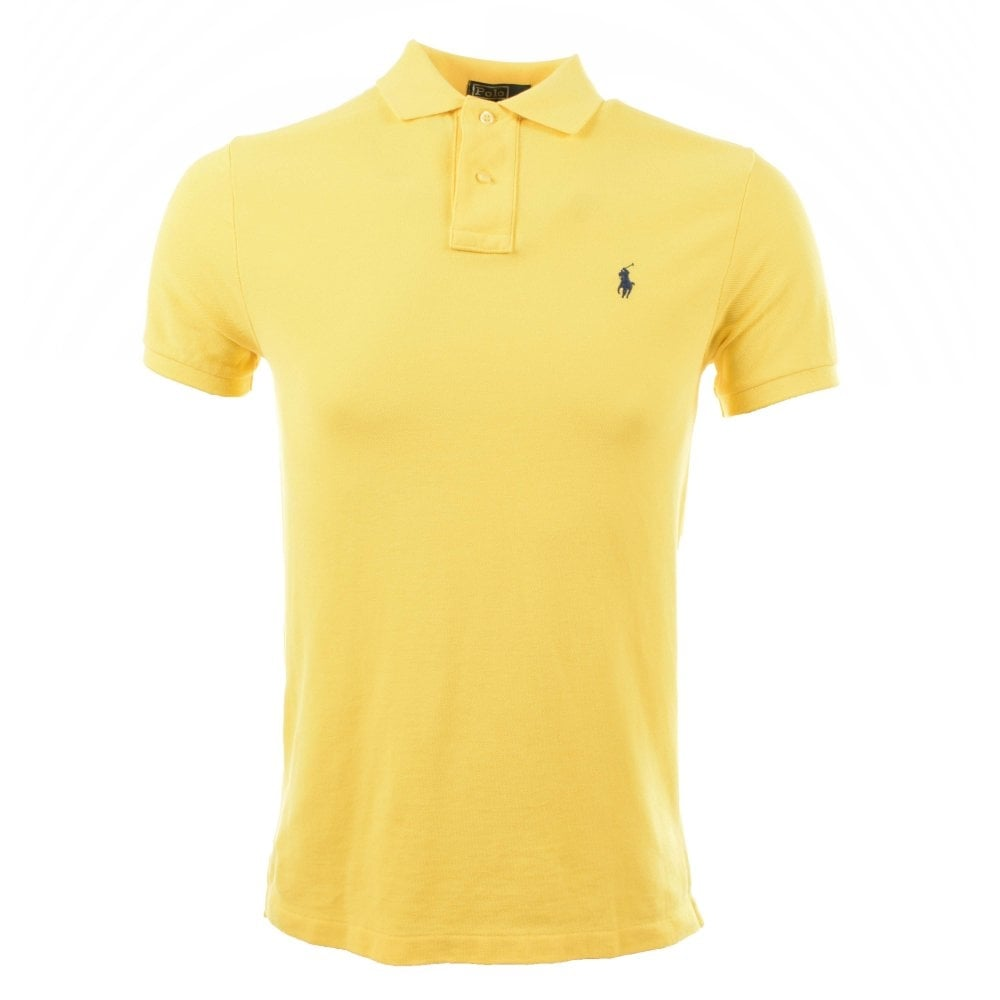 c5c9a83bc2b5 POLO RALPH LAUREN Ralph Lauren Yellow Custom Fit Polo T-Shirt - Men from  Brother2Brother UK