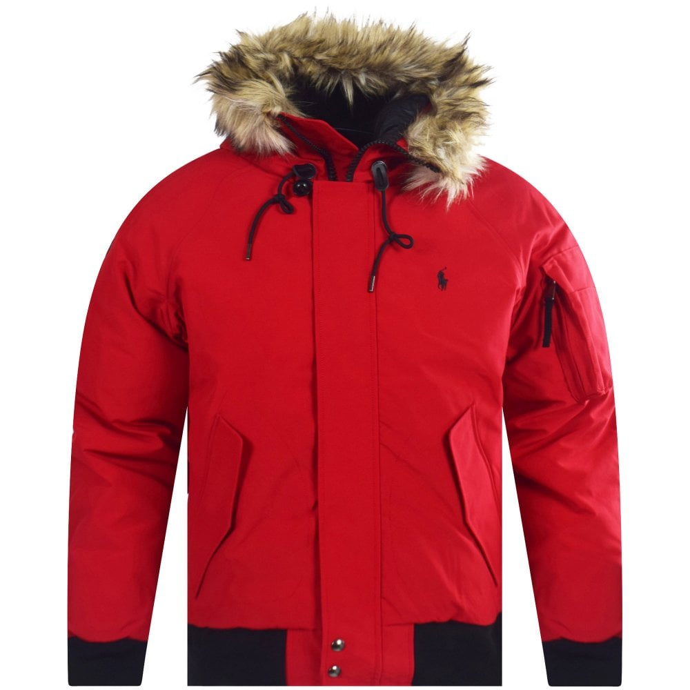 POLO RALPH LAUREN Polo Ralph Lauren Red Bomber Jacket - Men from ... 91b7c7c38