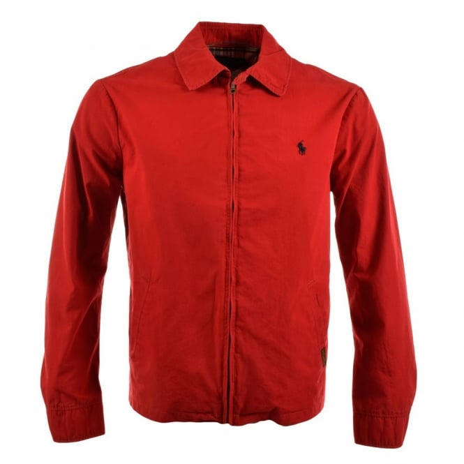 40daa12732 POLO RALPH LAUREN Red Harrington Style Jacket A30J7138 C0109