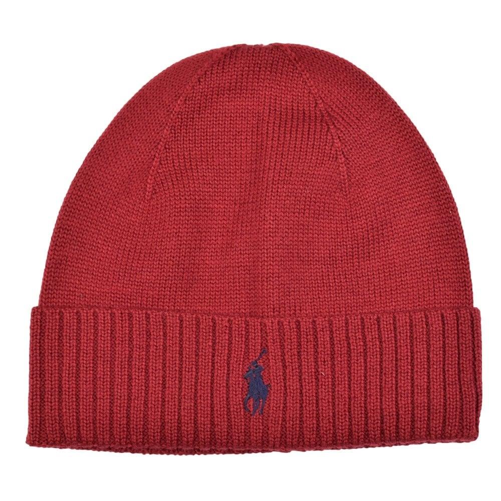 POLO RALPH LAUREN Red Polo Ralph Lauren Beanie Hat - Men from ... b34d9f6d28d
