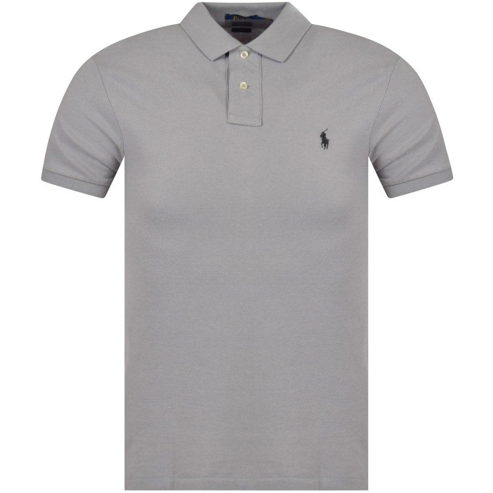 179503d5f POLO RALPH LAUREN Soft Grey Logo Slim Fit Polo Shirt - Department ...