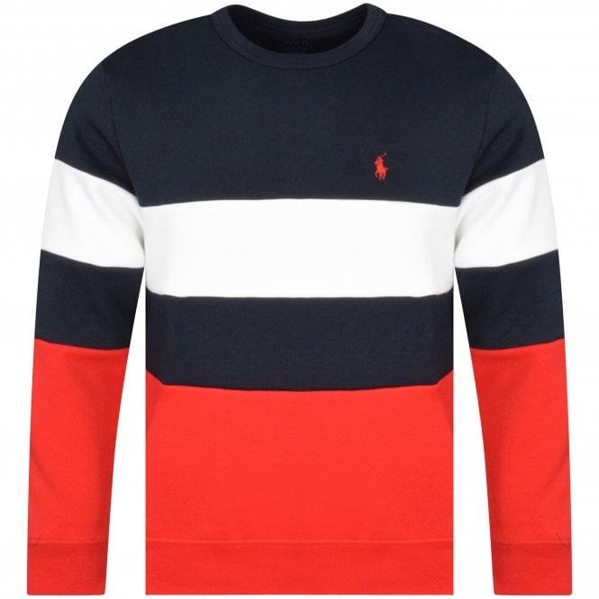 POLO RALPH LAUREN Tri-Colour Polo Logo Sweatshirt