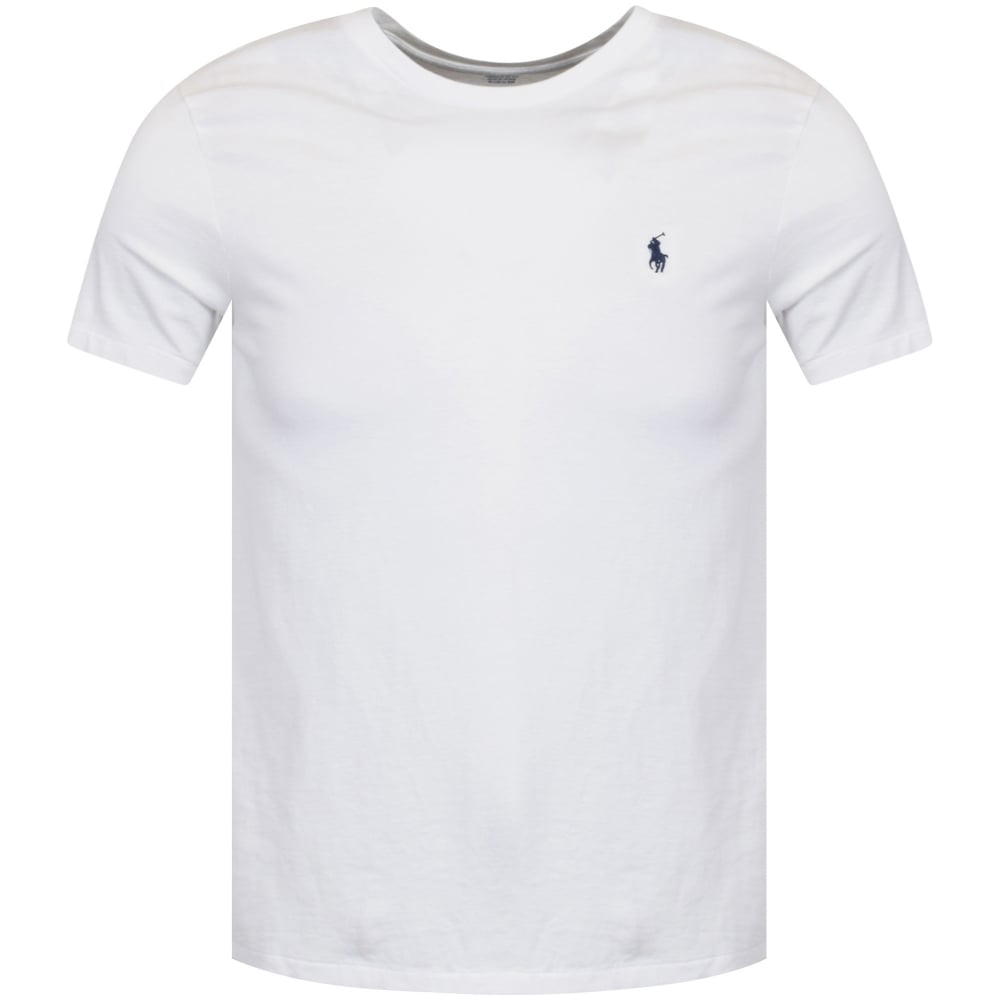 d93cd93f2211 POLO RALPH LAUREN Polo Ralph Lauren White Crew Neck T-Shirt - Men ...