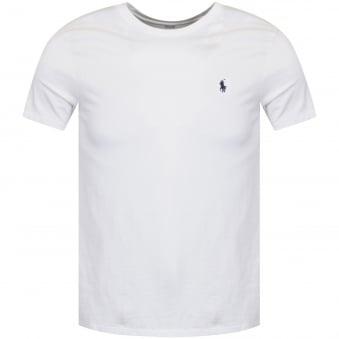 87a90592d9bc5 Polo Ralph Lauren White Crew Neck T-Shirt