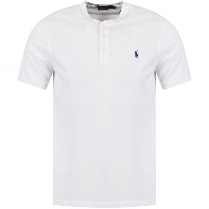 72f851e0 POLO RALPH LAUREN Polo Ralph Lauren White Grandad Collar Polo Shirt ...