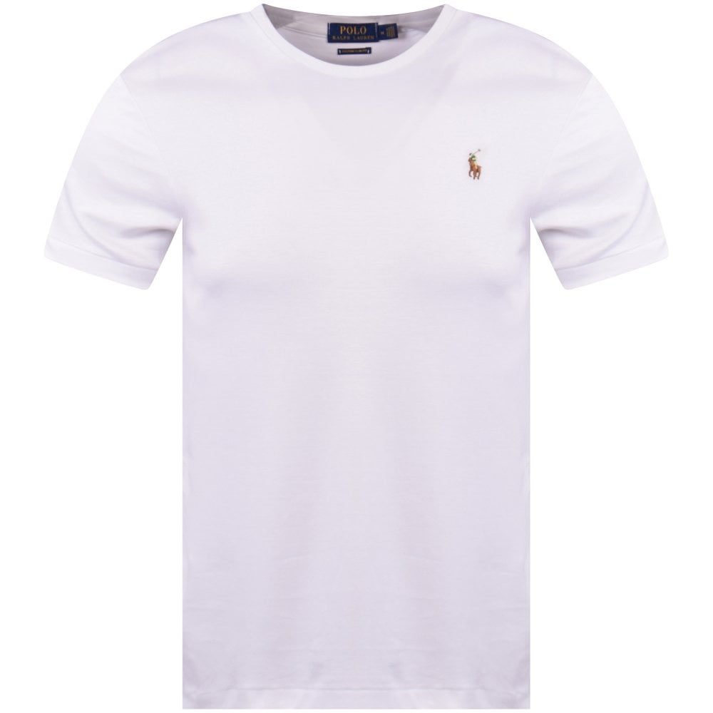 37fe404ecd White Logo Slim T-Shirt