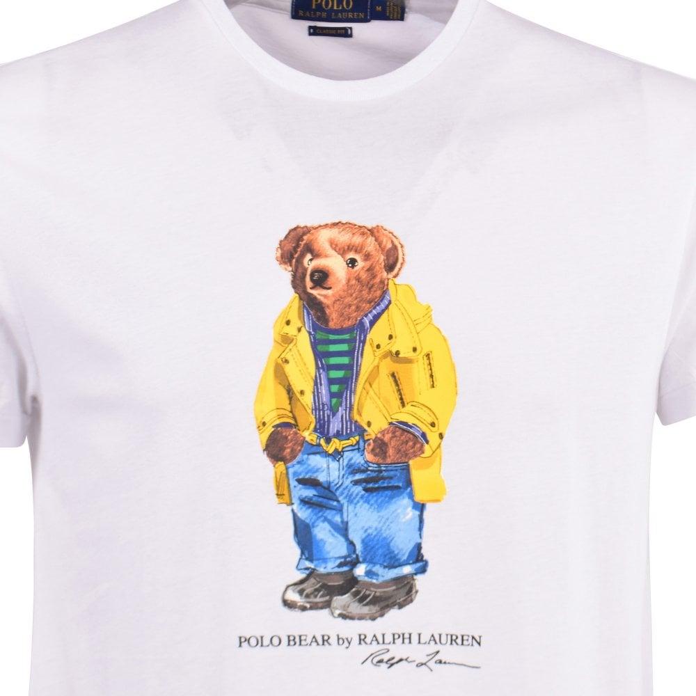 d3a191dd White Polo Bear Print T-Shirt