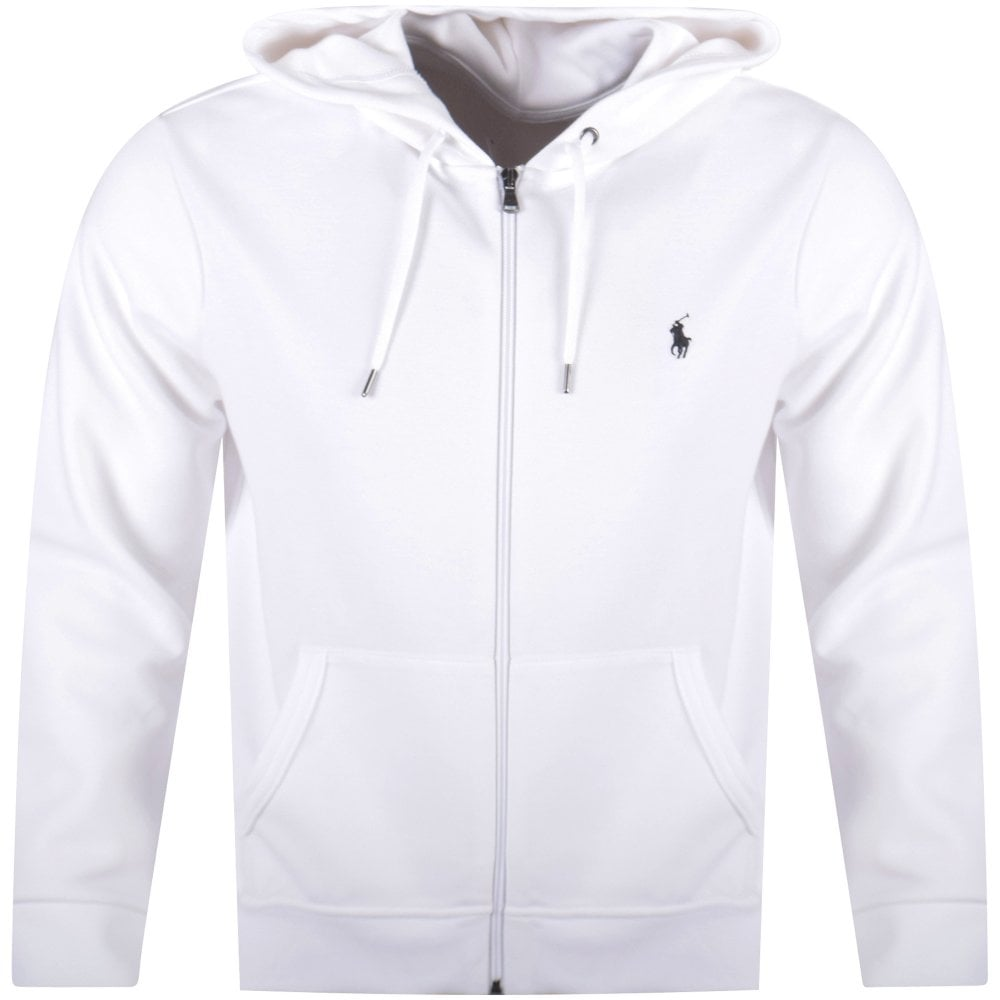 Polo Ralph Lauren White Zip Up Hoodie Men From Brother2brother Uk