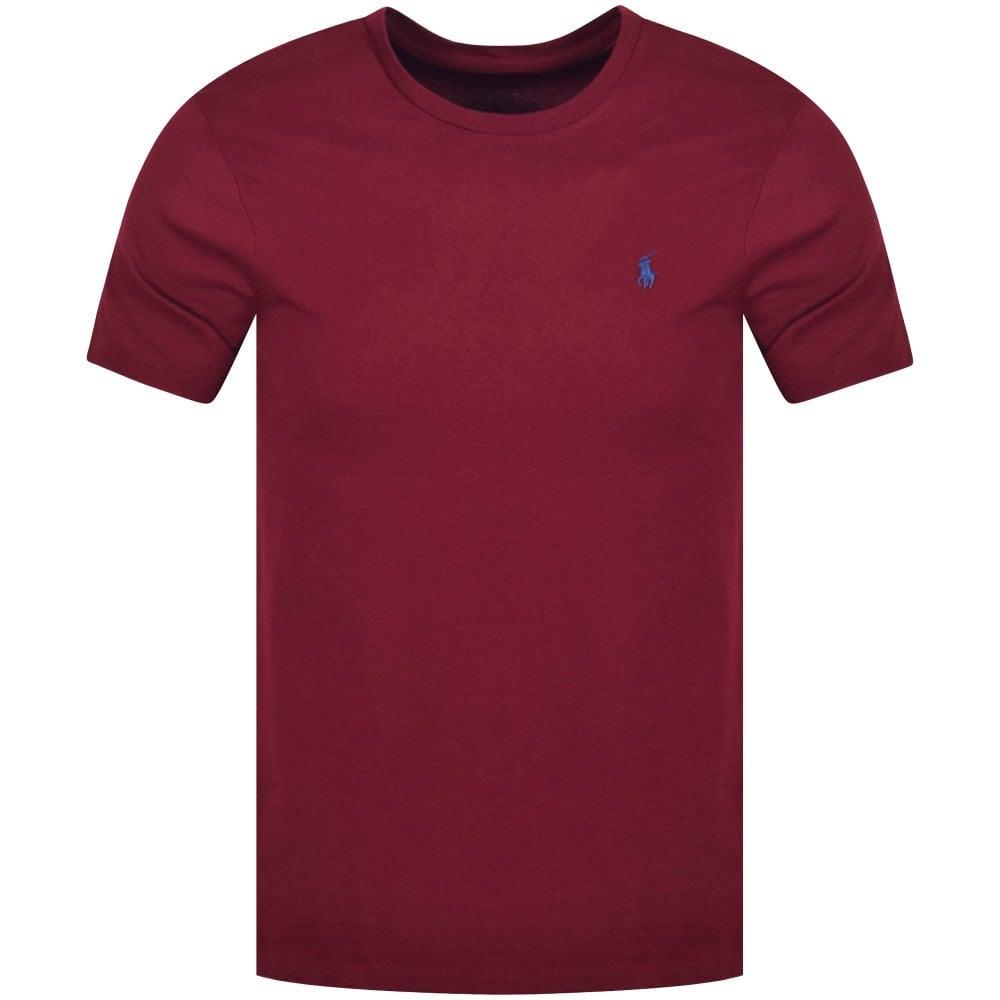 793cd80f3 POLO RALPH LAUREN Polo Ralph Lauren Wine Crew Neck T-Shirt ...