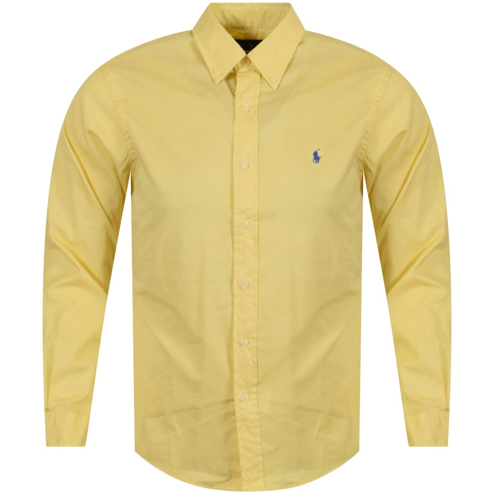 675dfee6ab99 POLO RALPH LAUREN Polo Ralph Lauren Yellow Long Sleeve Slim Fit ...
