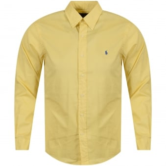Polo Ralph Lauren Yellow Long Sleeve Slim Fit Shirt
