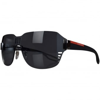 Prada Black Single Frame Logo Sunglasses