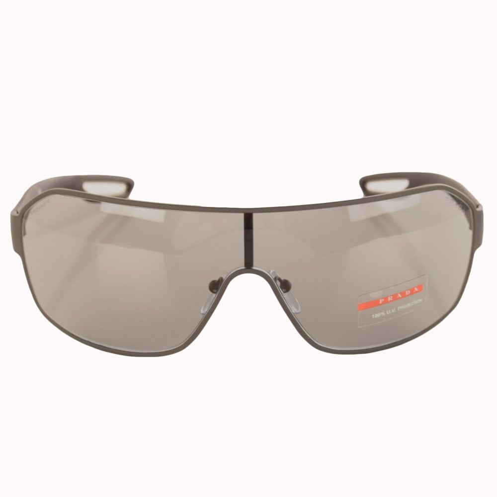 ea581db9c525 ... clearance prada eyewear grey wrap around sunglasses 52qs e6a2c 390f0