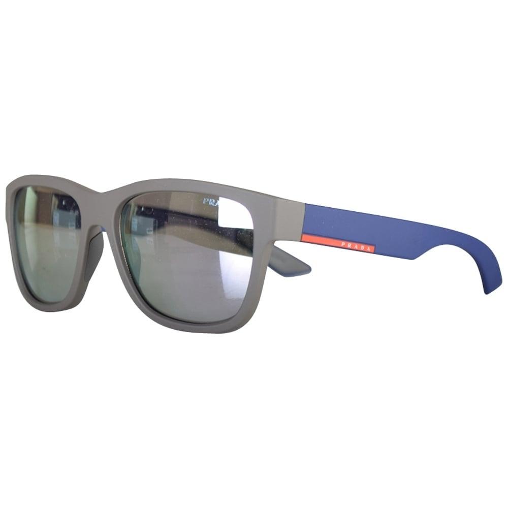 167afad1f5 PRADA SUNGLASSES Prada Grey Contrast Wayfarer Sunglasses - Men from ...
