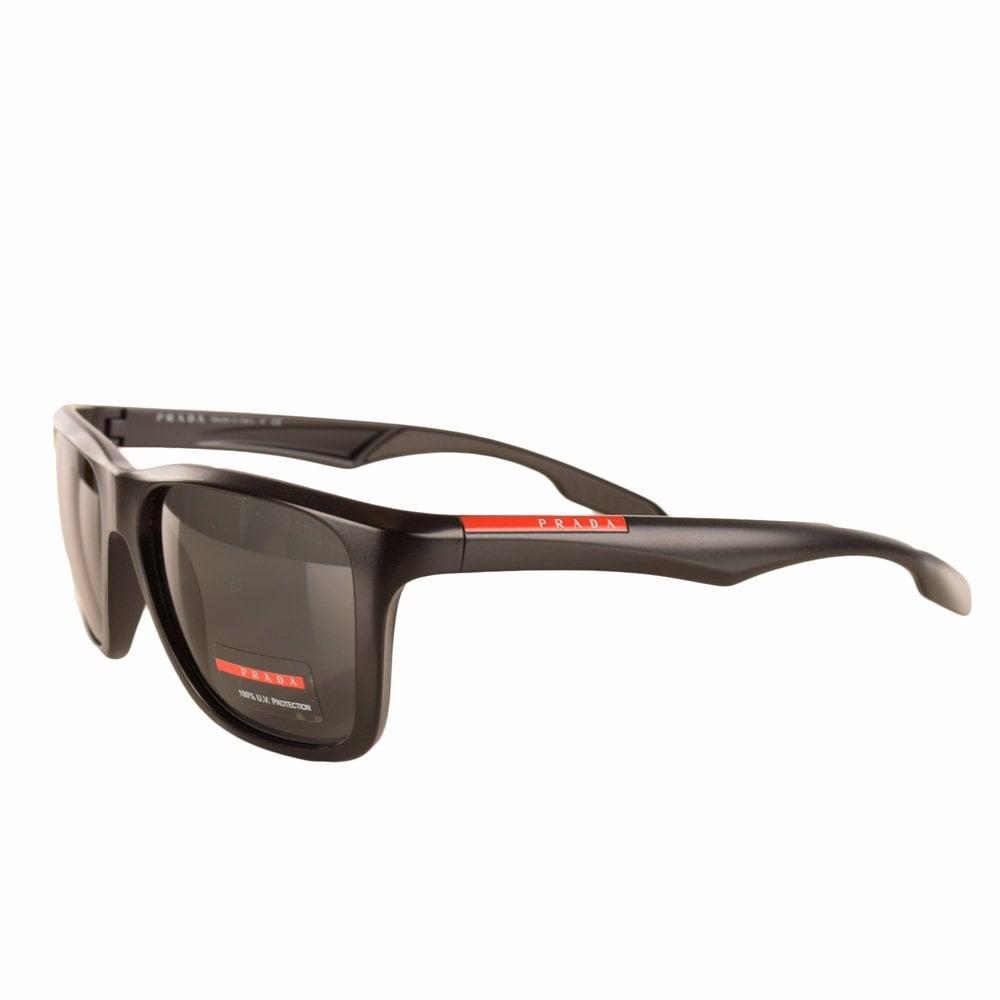 01d232751fd ... low price prada matte black linea rossa square frame sunglasses 79750  07060