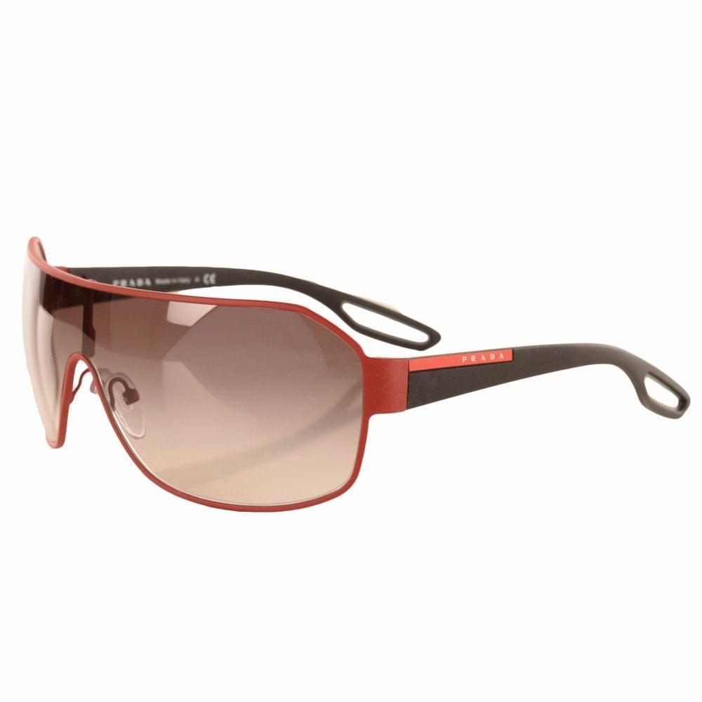 23c6b76f846 ... 50% off prada matte red italian sport frame sunglasses 00d18 dfdb7