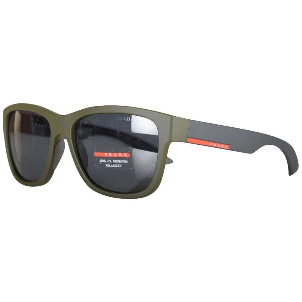 cd71392807b PRADA SUNGLASSES Prada Olive Contrast Wayfarer Sunglasses - Men from  Brother2Brother UK