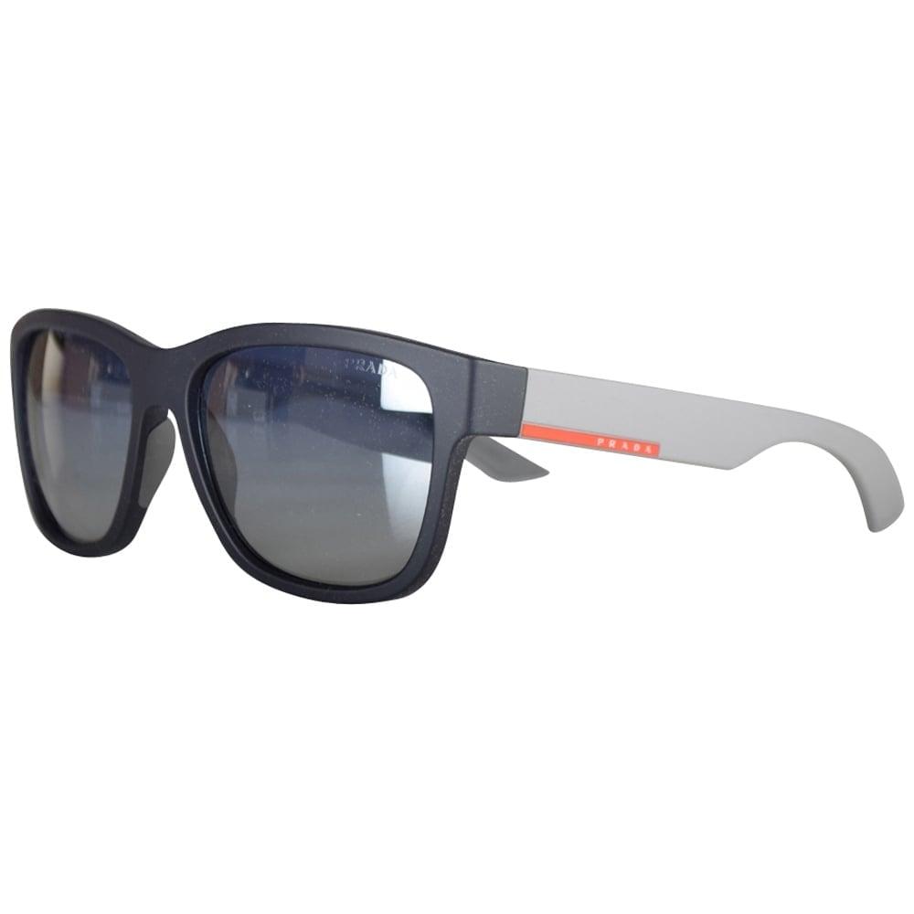 1112b54e3e4 ... sale prada matte black contrast wayfarer sunglasses ef262 f172a