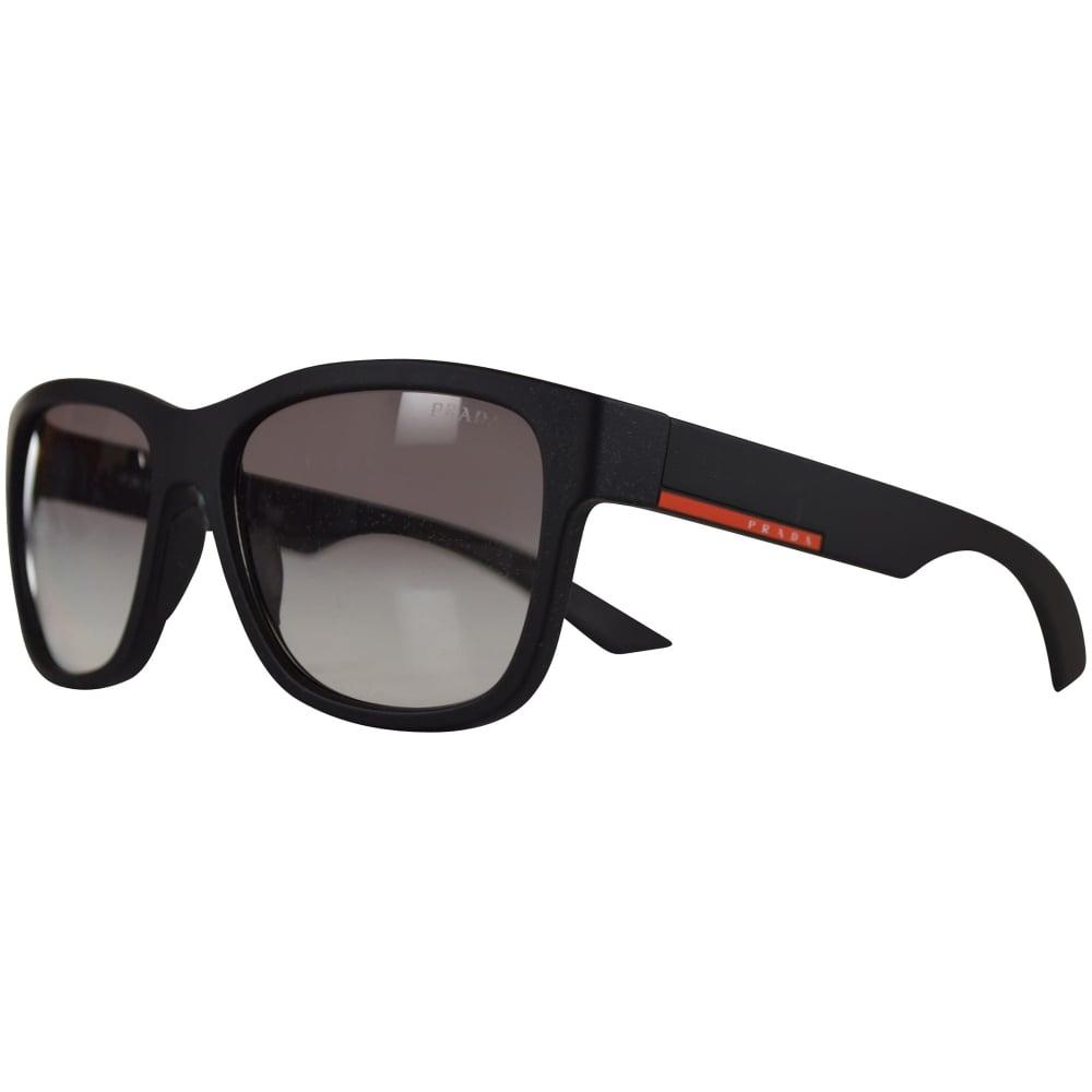 89f6e1b0e3 PRADA SUNGLASSES Prada Sport Matte Black Rubber Wayfarer Sunglasses ...