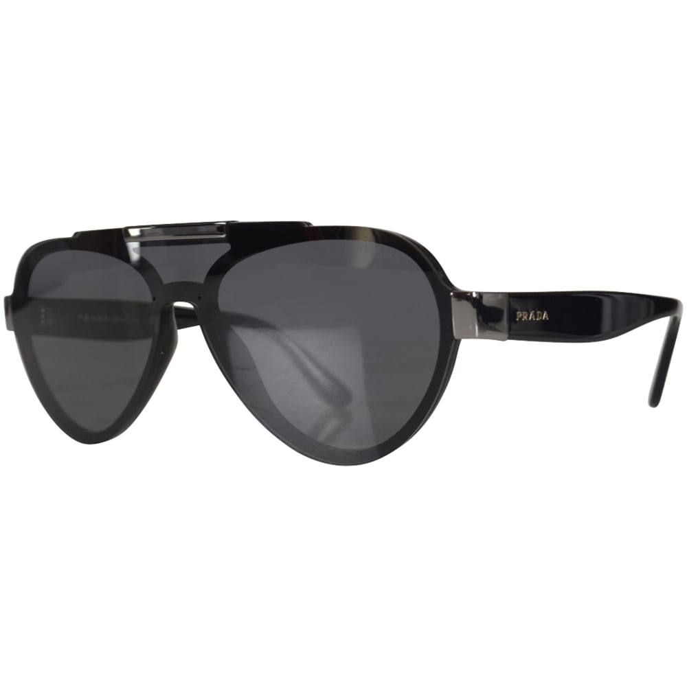 a178dff8d5884 PRADA SUNGLASSES Prada Black Aviator Sunglasses - Men from ...