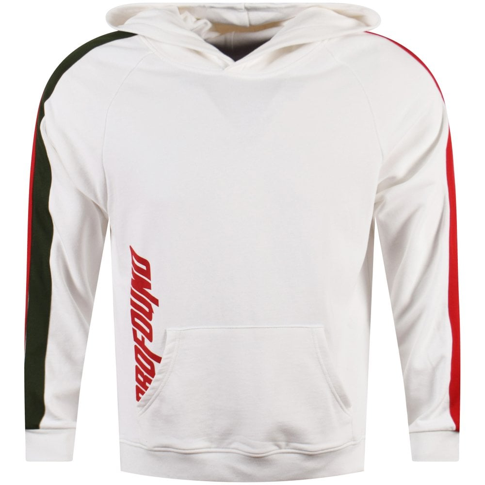 Greenred Off Pullover White Profound With Stripe Detailing Hoodie zZ71q